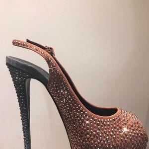 Giuseppe Zanotti Shoes - Hi heel platform with Swarovski crystal